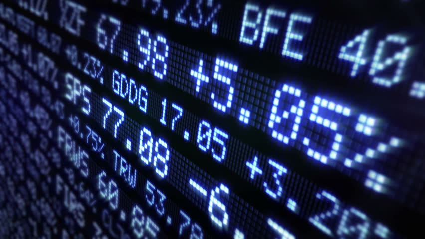 Stock Market Tickers. Loopable. Blue and Green. 2 videos in 1 file. Digital animation of Stock Market prices passing by. Lateral view. | Shutterstock HD Video #13811894