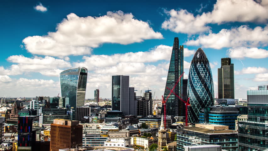 Timelapse view of amazing london skyline on a sunny day, shot from a unique high vantage point | Shutterstock HD Video #13842269