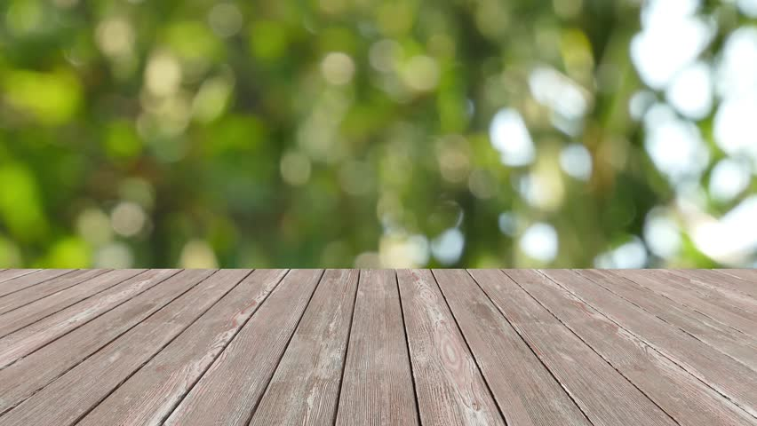 Table Top And Blur Nature Of Background Stock Footage ...