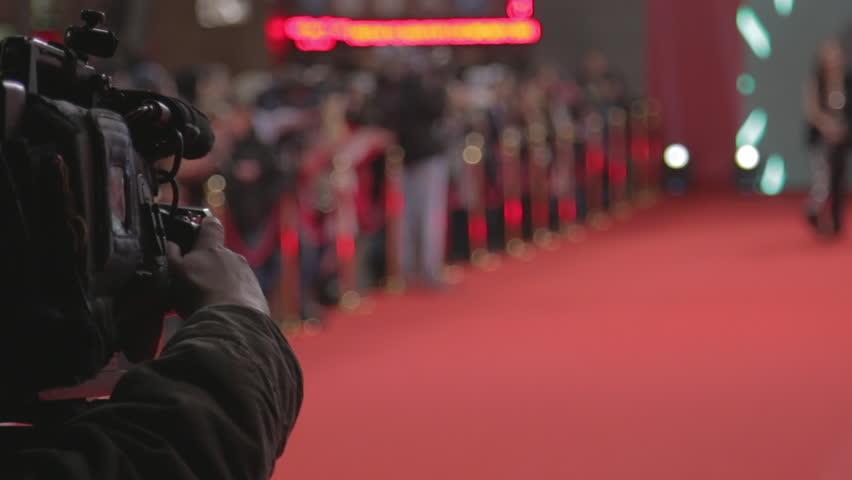 Videographer shoots festive event #13879982