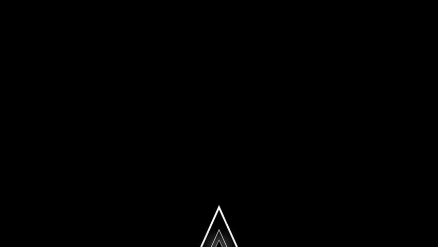 three dimensional white triangle motion graphic