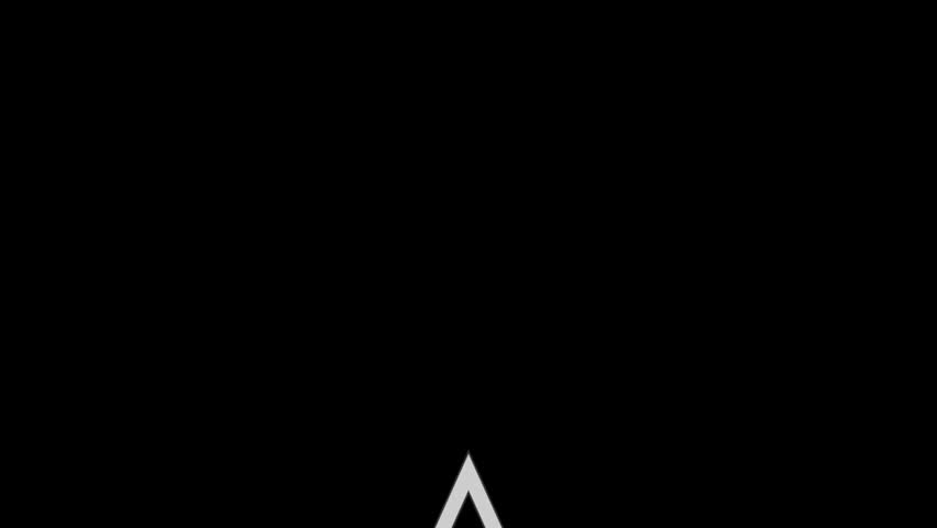three tier triangle white & grey motion graphic