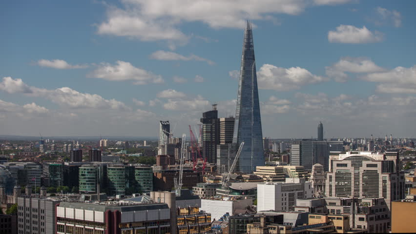 Timelapse view of amazing london skyline on a sunny day from a unique high vantage point | Shutterstock HD Video #13926029