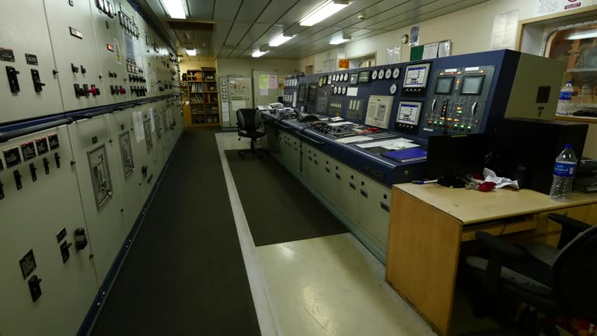 Engine control room of very large tanker. | Shutterstock HD Video #13941095