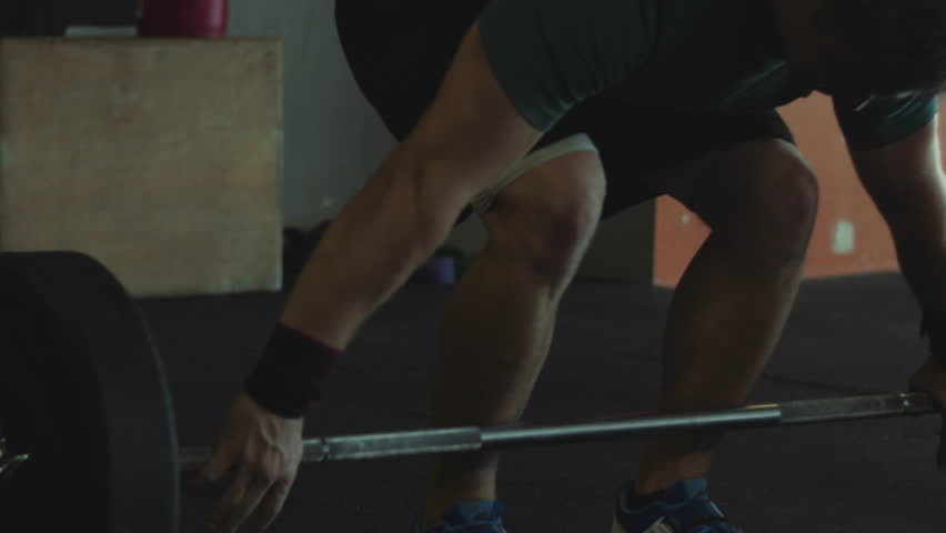 Cinematic Intense Athlete Olympic Weightlifting