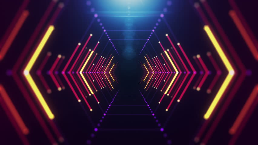 Abstract background with animation of flight in...