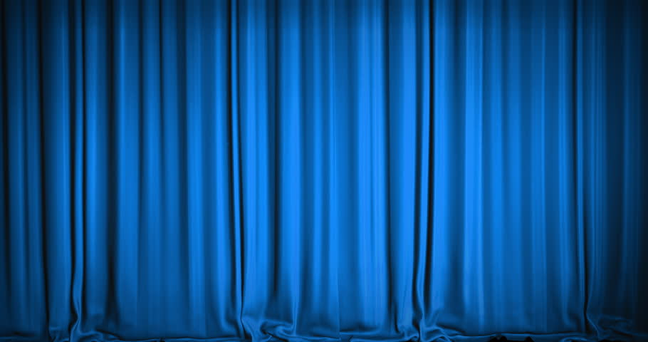 Curtains Ideas blue velvet curtains : Blue Theater Curtain Stock Footage Video - Shutterstock
