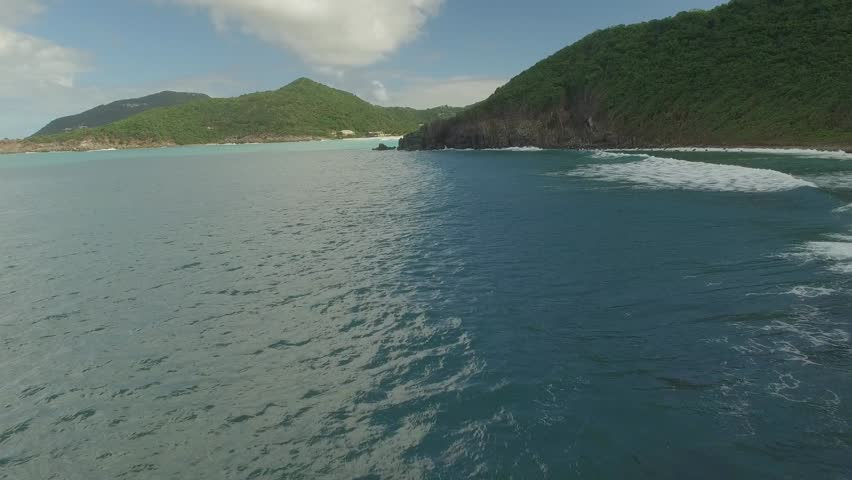 4K Shot pushing across the beautiful blue water of the British Virgin Islands. January 2015 | Shutterstock HD Video #14212418