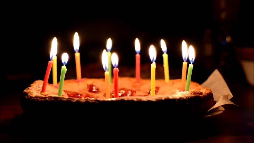 Birthday Cake With Candles Hd Images : Time Lapse Burning Birthday Cake Candles. No Sound In File ...