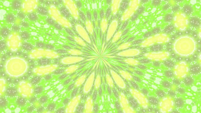 Abstract rotating background in Yellow-Green tones Animation