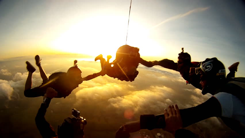Skydiving tandem group