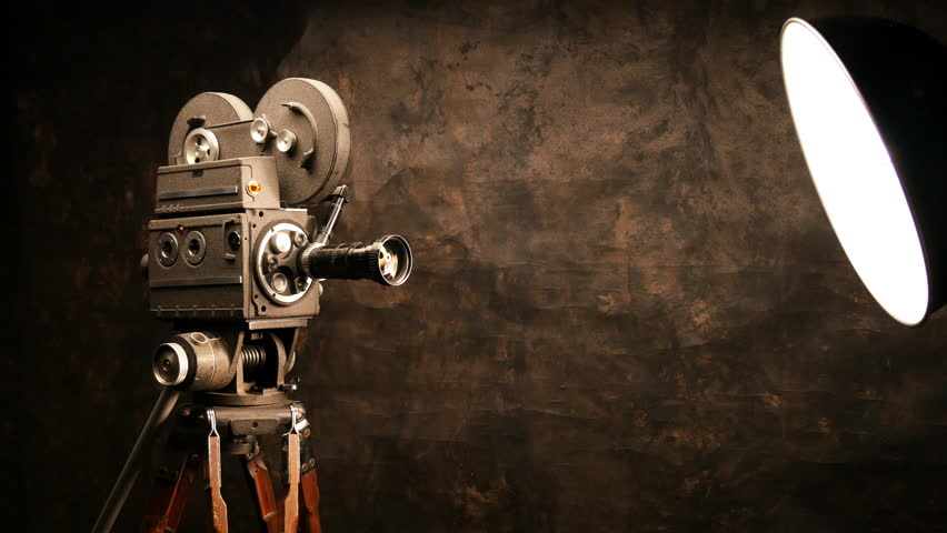 Vintage Film Projector. Countdownwith Green Screen ...