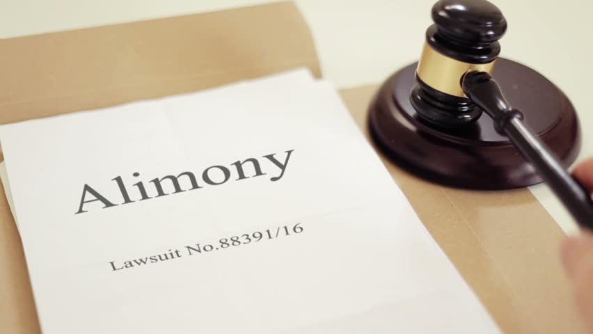 Header of alimony