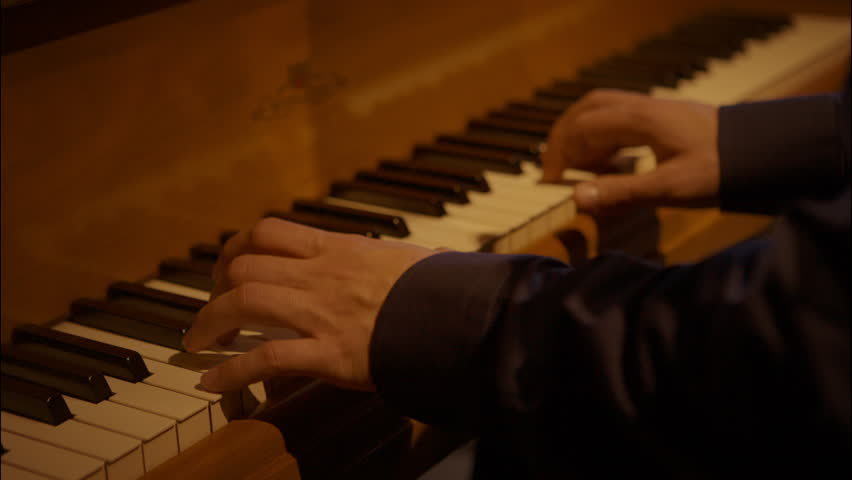 Header of grand piano