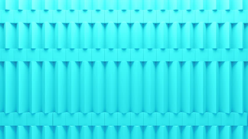Abstract rectangular and box elements background with randomly rotated elements, 3d render or boxes and rectangles with fillet edges, loopable