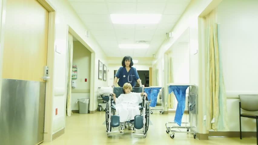 Nurse with little boy in hospital | Shutterstock HD Video #14601493