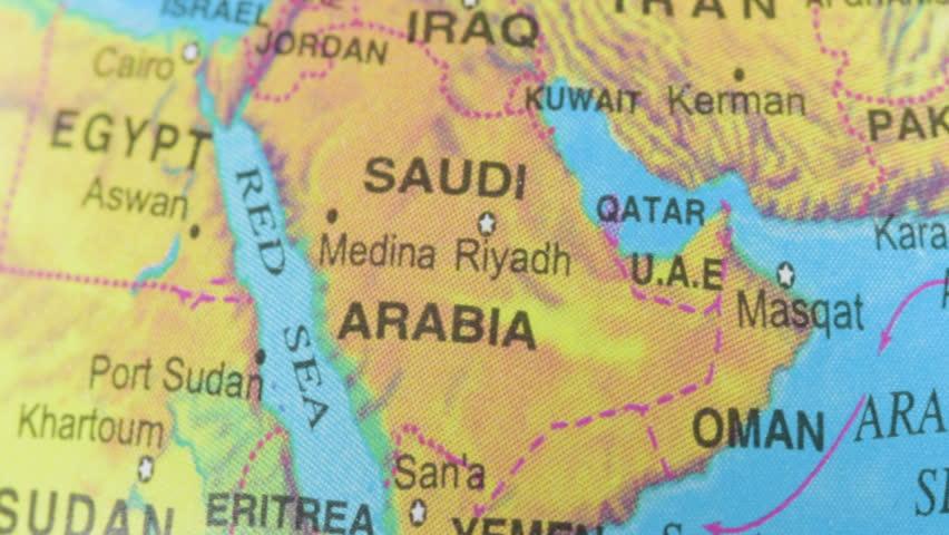 Saudi Arabia Map Footage Video Shutterstock – Map of Uae and Saudi Arabia