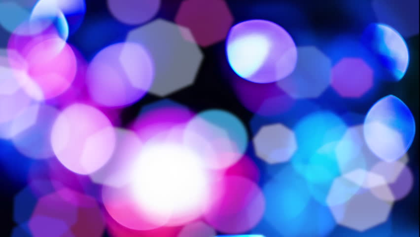 Background with bokeh defocused lights in blue pink colors from disco mirror ball. | Shutterstock HD Video #14739538