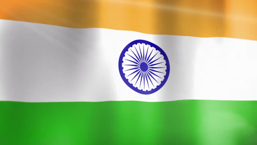 For Indian Flag Hd Animation: Indian Flag HD. Looped. Stock Footage Video 1821566