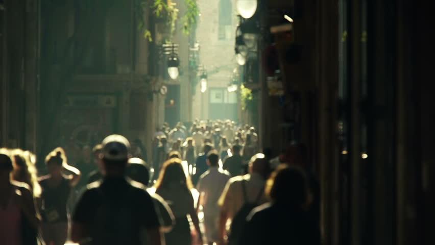 street crowd slowmotion | Shutterstock Video #1492360