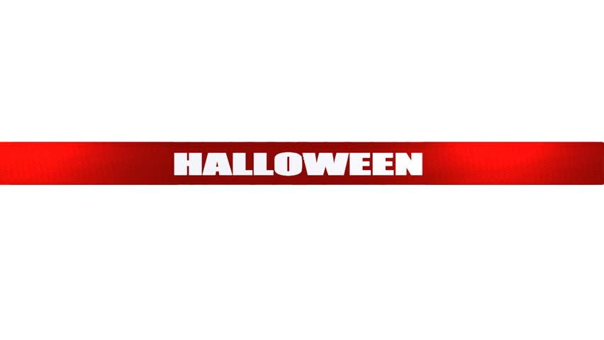 Scissors cut Halloween tape