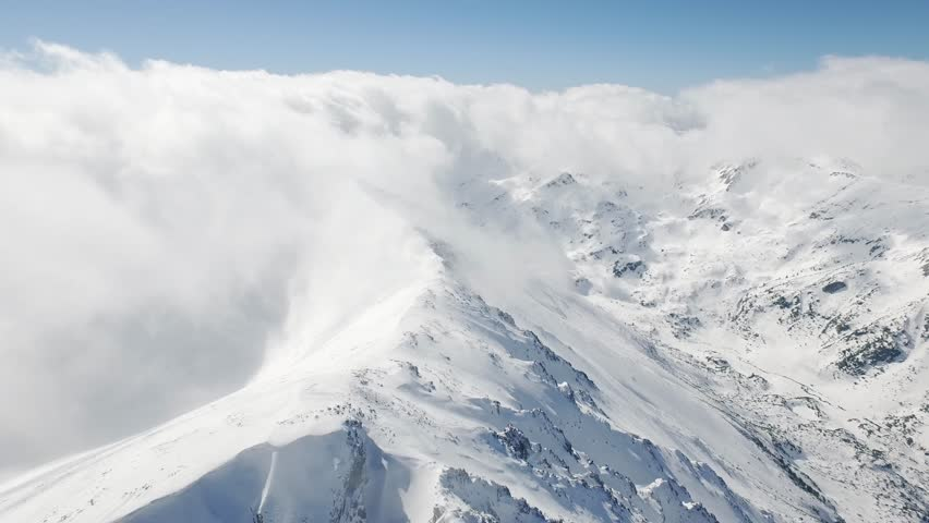 Beautiful Epic Scale Mountain Range Swiss Alps Aerial Drone Footage Clouds Peaks Travel Extreme Heights Distances Inspiration Concept UHD 4K