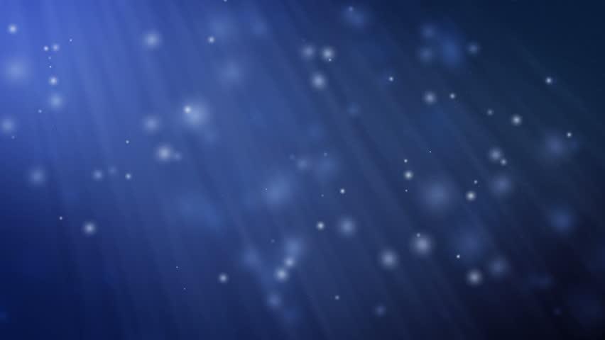 4K Blue Particles Light