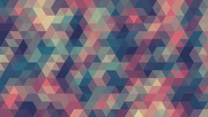 Pattern of geometric shapes, abstract animation