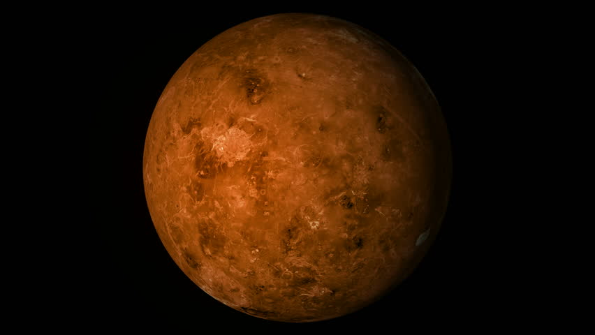Animated One Revolution Of Planet Venus With Correct ...