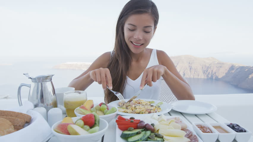 Image result for woman eating breakfast