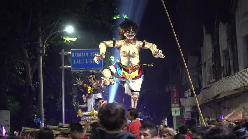 Ogoh-Ogoh parade preceding Nyepi in Denpasar, 8th of March 2016 | Shutterstock HD Video #15361999