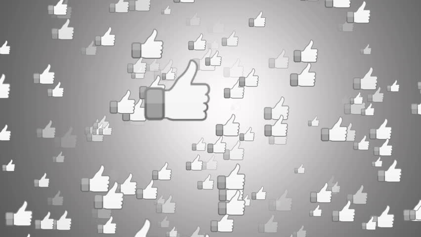 """SAN FRANCISCO, USA - April 1, 2016: """"Facebook Like Button"""" From Bright White Surface. Facebook is The Most Popular Online Social Networking Service in the World. Editorial Animation. #15472276"""