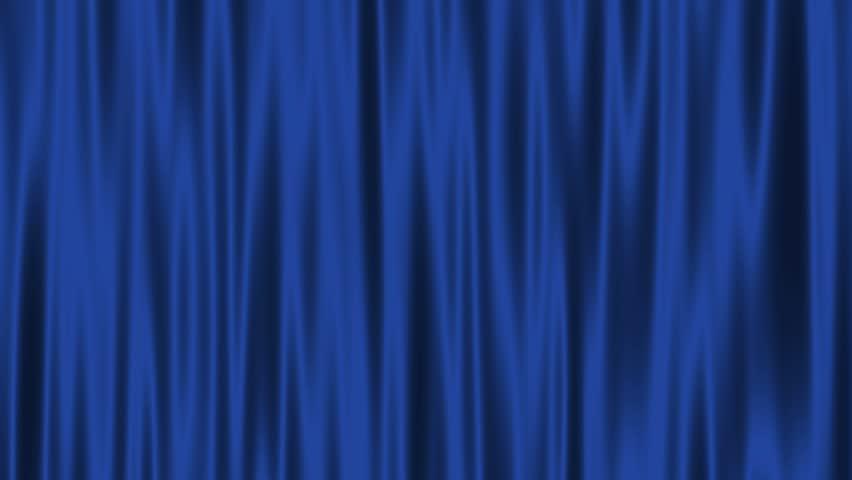 Curtains Ideas blue velvet curtains : Blue Curtains Open With Spotlights Plus Alpha Matte. Stock Footage ...