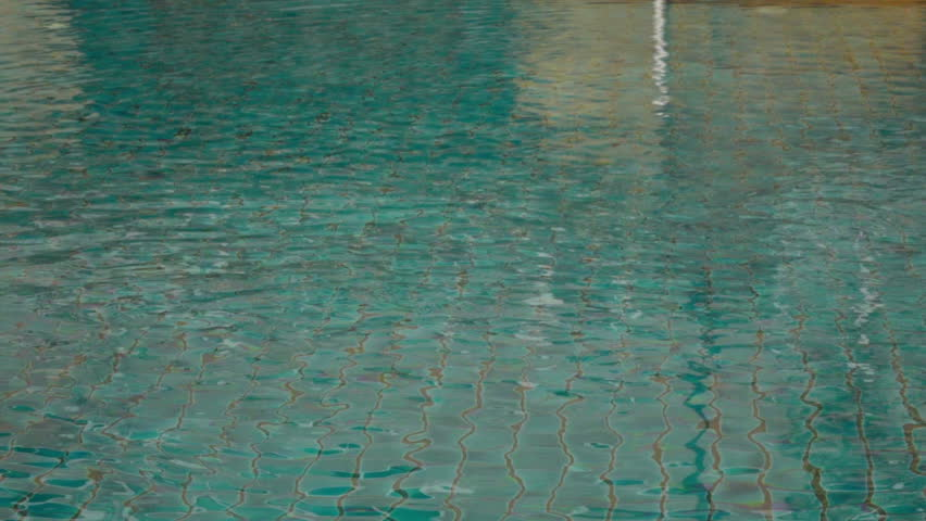 Pool Water Splash water dropping in pool water fall splash stock footage video
