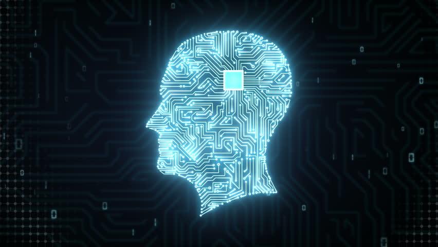 Brain head connect digital lines, expanding artificial intelligence   Shutterstock HD Video #15508966