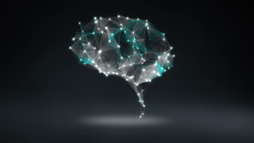 Brain connect digital lines, expanding artificial intelligence | Shutterstock HD Video #15508969