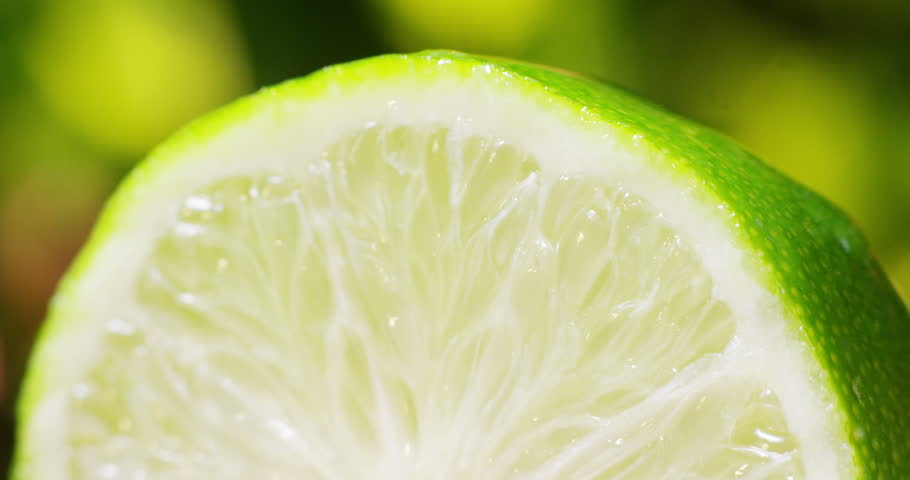 Very close detail fresh of lime macro colorful dripping pure water   | Shutterstock HD Video #15667792