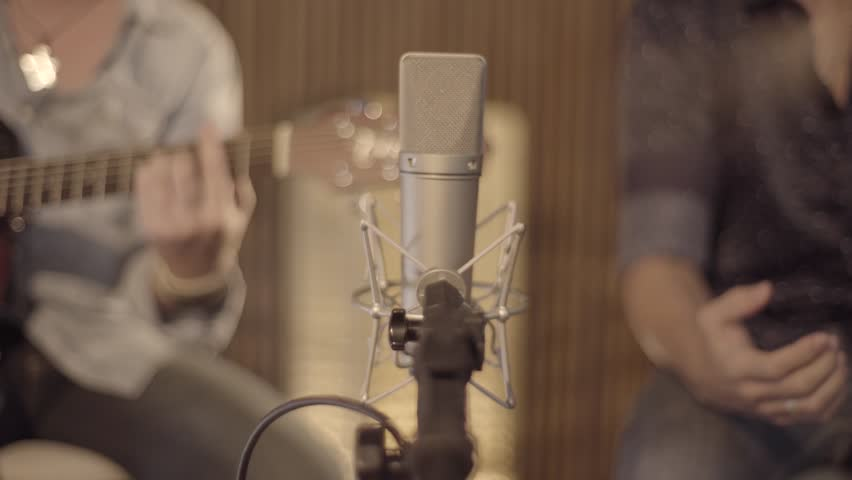 Double backlands recorded in the studio - musicians recording studio