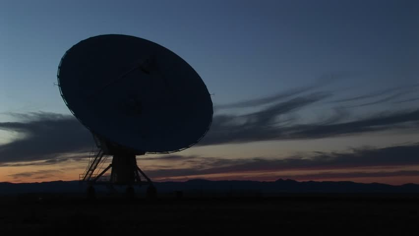 MS - Silhouette Of A Satellite Dish At National Radio Astronomy ...