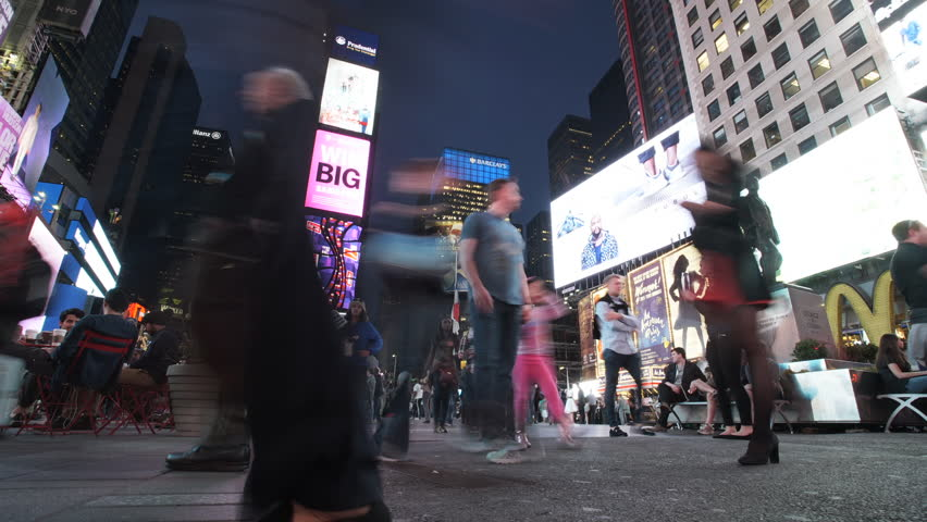 A time-lapse of New York City's Times Square. New...