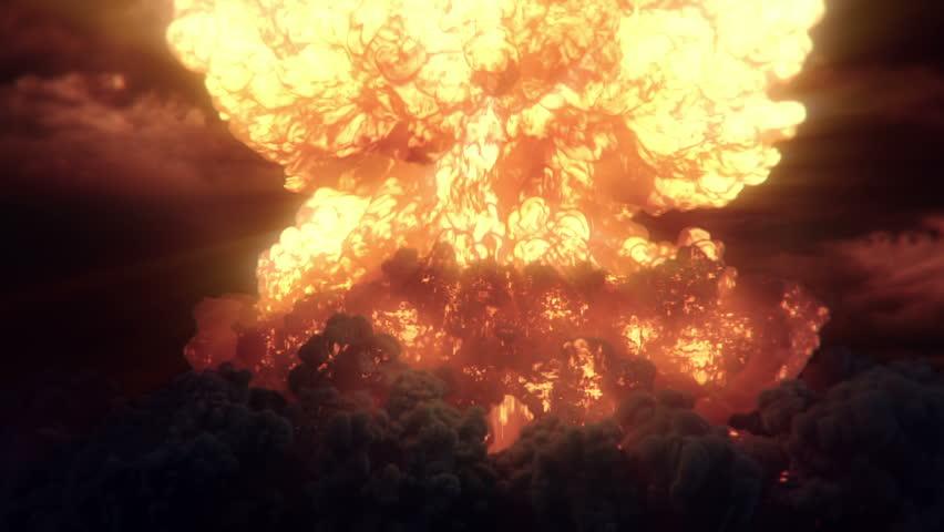 Nuke massive nuclear  mushroom explosion