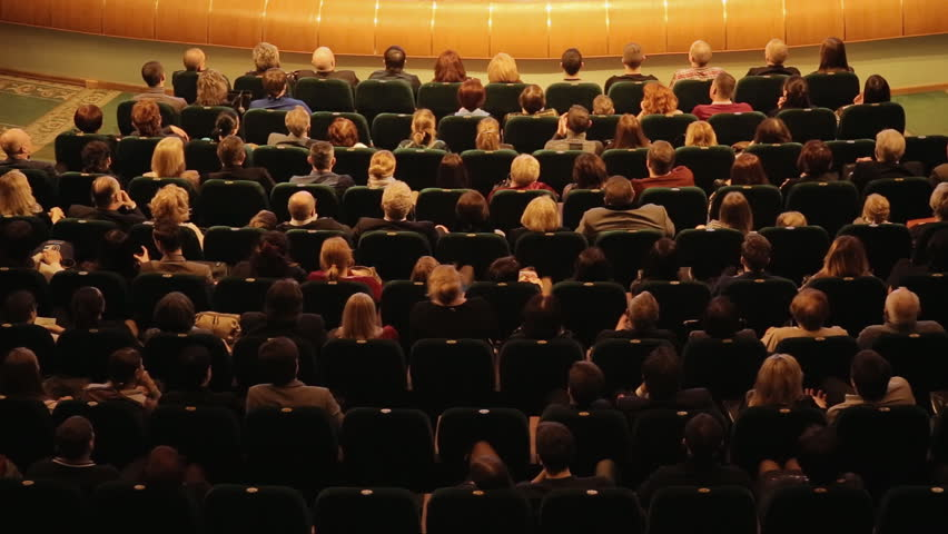 cheerful applause at a premiere in theater | Shutterstock Video #15939040