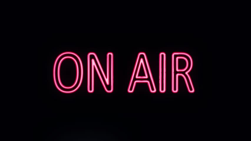 ON AIR Neon Sign Turning on