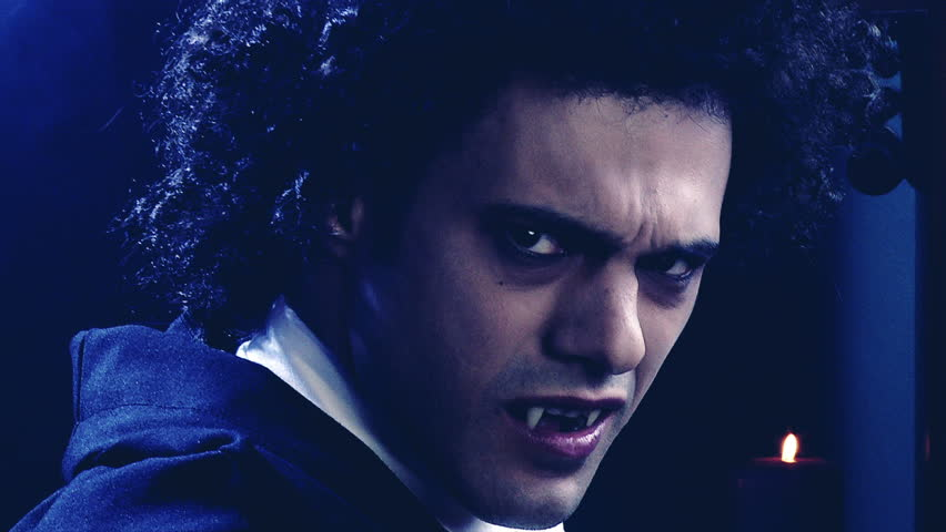 Screaming Vampire's Face. Scary Evil Stock Footage Video ...