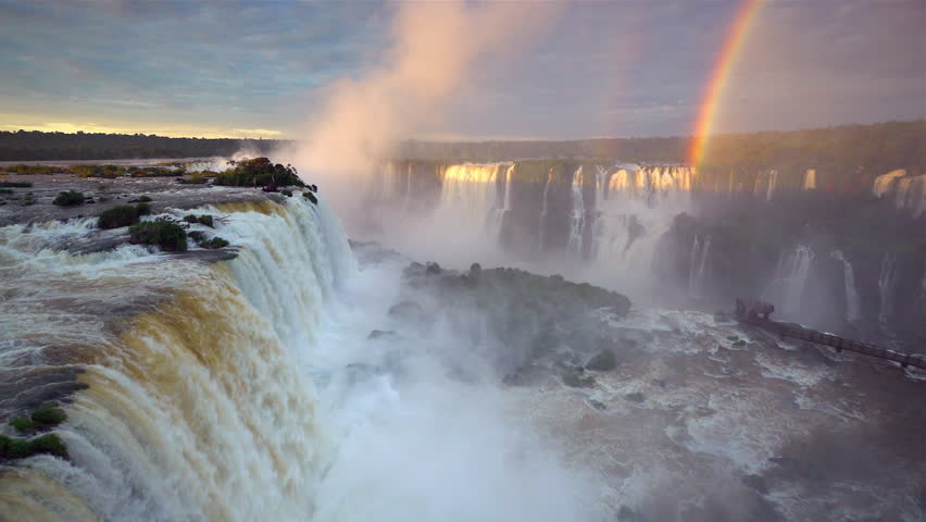 Iguacu Falls, Foz do Iguacu (Iguazu) National Park, Brazil, South America | Shutterstock HD Video #16160359