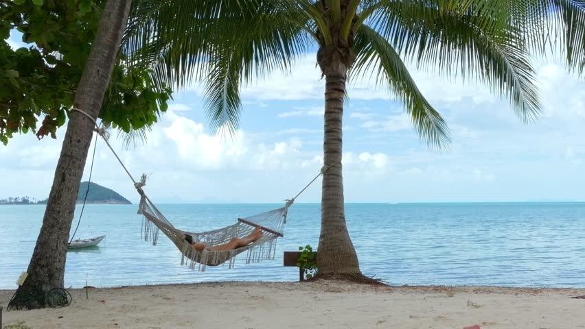 Woman in the hammock | Shutterstock HD Video #16163599