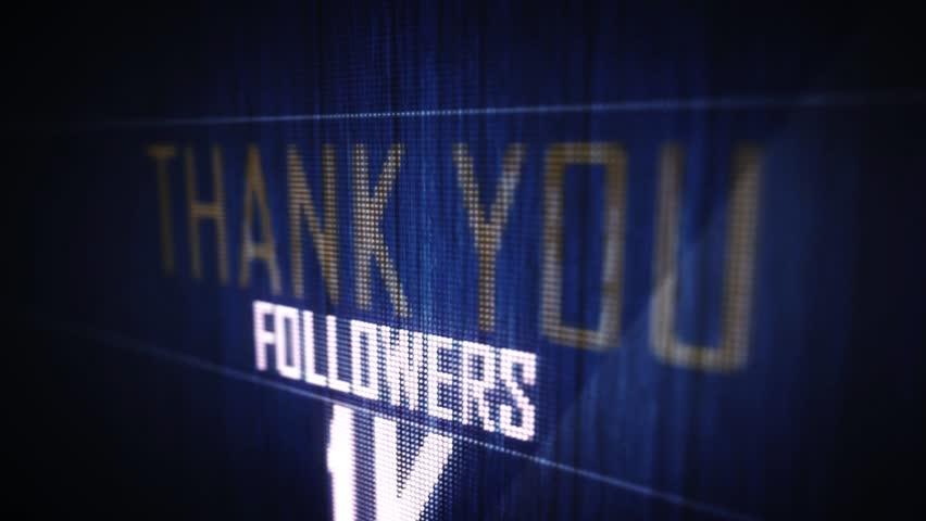 Thank you followers 1 k. | Shutterstock HD Video #16239442