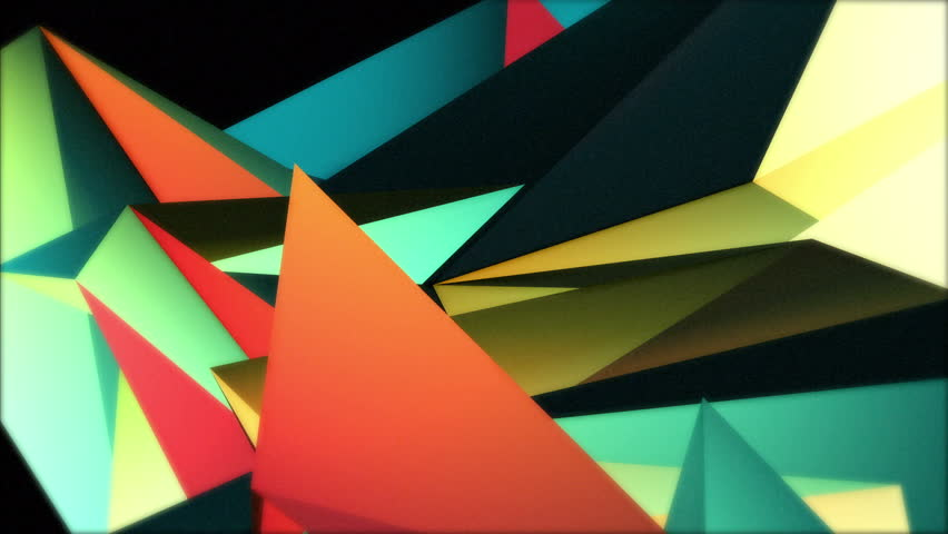 Color Collage. A crazy set of moving triangles is rotating and changing colors over 20 seconds. Summer colors, ideal to create nice kaleidoscopic effects.  | Shutterstock HD Video #16263757