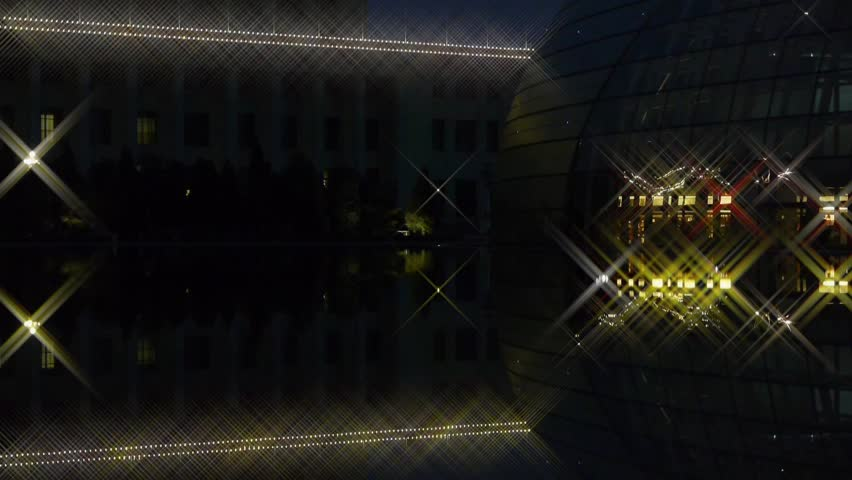 Modern Architecture Videos beijing china national grand theatre in reflection in lake water