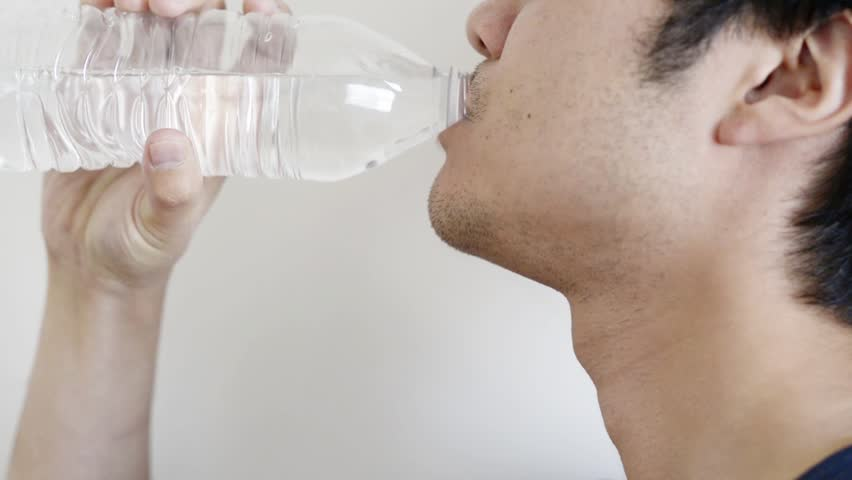 cinemagraph of drinking water